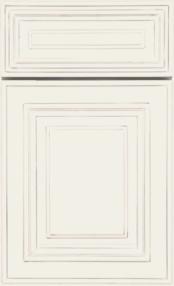 Charleston Tapioca w Glaze Kitchen Cabinets