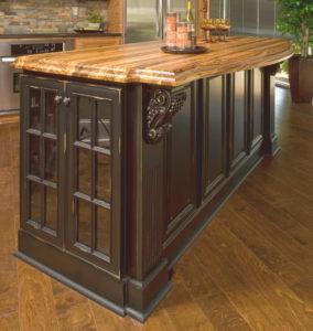 vintage onyx cabinets island