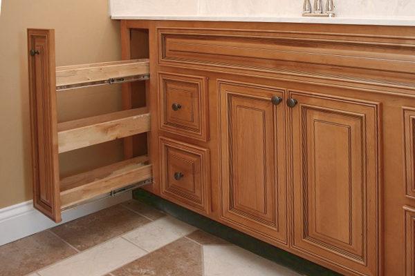 Amber Glaze Vanity Cabinets