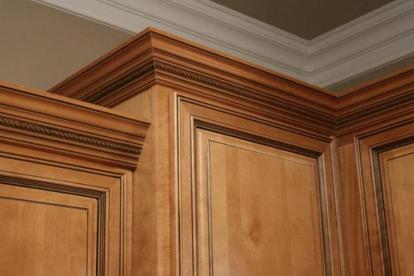 Amber Glaze Cabinets detail