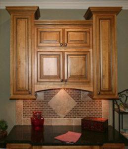 Amber Glaze Cabinets