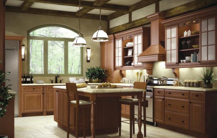 Builder Cinnamon Glaze kitchen cabinets