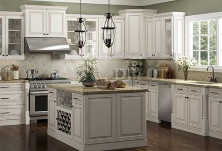 Charleston Antique White Cabinets