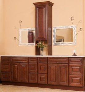 Charleston Saddle vanity cabinets