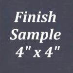 Espresso Frameless Finish Sample
