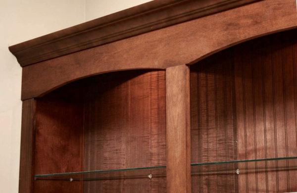 Mocha Glaze cabinet detail