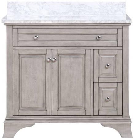 gray vanity
