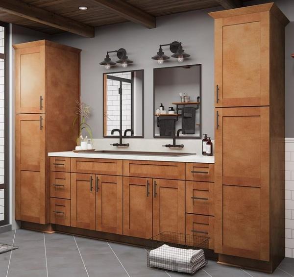 Shaker Spice Vanity Cabinets