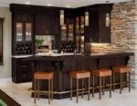 Shaker Espresso Bar cabinets