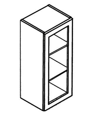 "Cabinet with glass door 30""h"