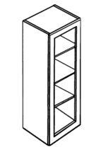 "Cabinet with glass door 42""h"